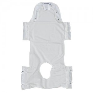 Drive Patient Lift Sling with Head Support and Insert Pocket with Commode Opening