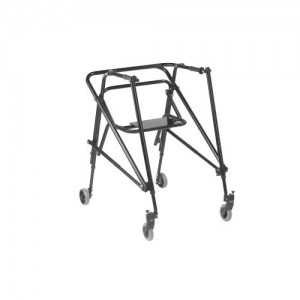 Drive Nimbo 2G Lightweight Posterior Walker with Seat, Extra Large, Emperor Black