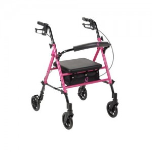 Drive Breast Cancer Awareness Adjustable Height Rollator