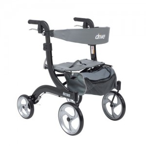 Drive Nitro Euro Style Walker Rollator, Hemi Height