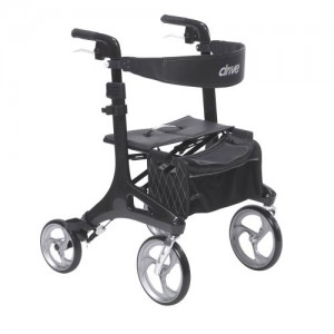 Drive Nitro Elite CF Carbon Fiber Walker Rollator, Black
