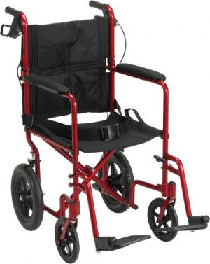 Drive Medical Expedition Lightweight Transport Chair with Flat Free Wheels by Drive