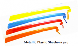 Metallic Plastic Shoehorn (20