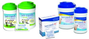 Nice Pak Products Inc Sani-Hands ALC Antimicrobial Alcohol Gel Wipes