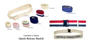 Gait Belts with Plastic Quick Release Buckle