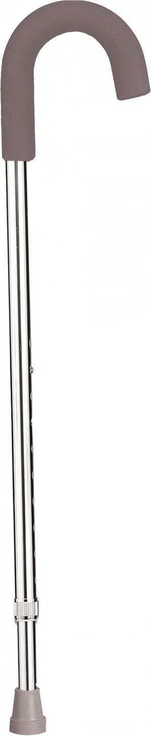Drive Medical Aluminum Round Handle Adjustable Cane with Foam Grip