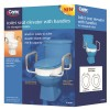 Carex Elongated Raised Toilet Seat with Handles