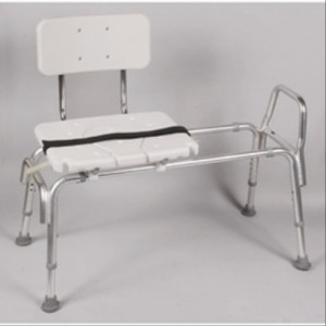 Sliding Transfer Bench with 2 in 1 Cut Out Molded Seat