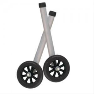 Walker Wheels, Universal 5 Inch With Rear Glide Caps