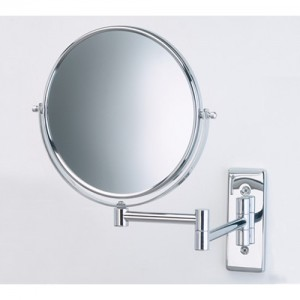 Jerdon 5X Magnifying Wall Mount Swivel Mirror
