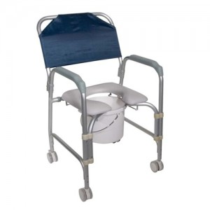 Drive 11114KD Commode Shower Chair - 4 Wheel