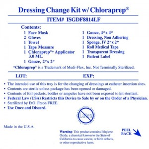Invacare  Supply Group Drs Chg Kit W/Chlp N/Ltx 3m S