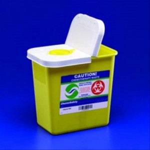 Kendall SharpSafety Chemotherapy Sharps Container