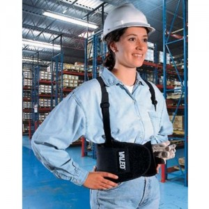 Valeo Heavy-Duty Elastic Back Support Belt With Detachable Suspenders