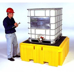 UltraTech Ultra-IBC Spill Pallet Plus w/ Large Deck & Small Footprint