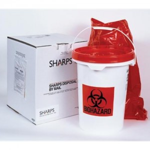 Sharps 5 Gallon Medical Waste Disposal By Mail System