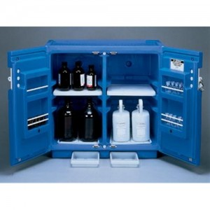 Justrite Blue Polyethylene Under Counter Storage Cabinet For Acids