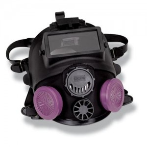 North Silicone Full Face Piece Respirator With Welding Attachment