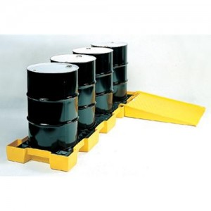 Eagle Four Drum 66 Gallon Polyethylene In-Line Spill Platform