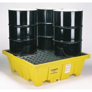 Eagle Four Drum 90 Gallon Polyethylene Control Pallet Unit
