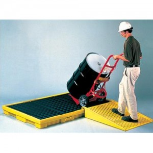 Eagle 6-Drum 88-Gallon Capacity Spill Pallet With Grating