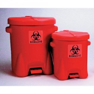 Eagle Red Biohazard Waste Can