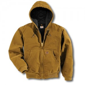 Carhartt  Quilted Flannel Lined Cotton Sandstone Duck Active Jacket