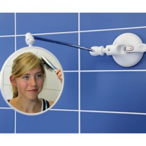 Telescoping Suction Cup Magnifying Mirror