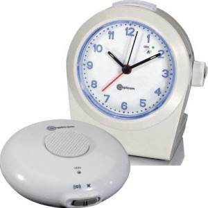 Amplicom TCL 100 Analog Alarm Clock with Bed Shaker