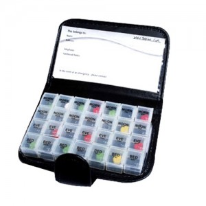 Tabtime Black Wallet 7 Day Weekly Pill Organizer