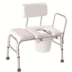 Carex Padded Tub Transfer Bench with Commode