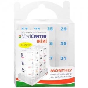 MedCenter Mini Monthly Pill Organizer