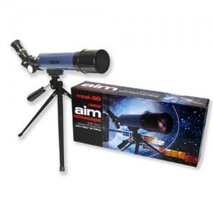 Carson Aim 50mm Refractor Telescope with Tripod
