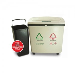 iTouchless Dual Compartment Touchless Trash Can Recycle Bin