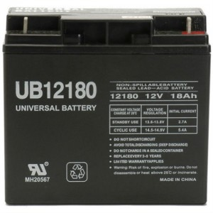 UPG UB12180 18Ah Sealed Lead-Acid AGM 12V Battery