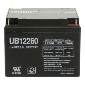 Universal UB12260 26Ah 12V Replacement Battery