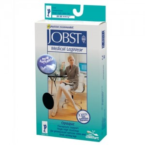 Jobst Opaque 20-30 mmHg Thigh High Open Toe w/ DOT Band