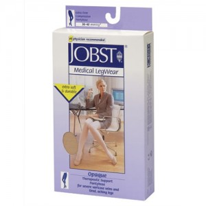 Jobst Opaque 30-40 mmHg Waist High Closed Toe