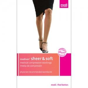 Mediven Sheer & Soft 15-20 mmHg PantyHose OT w/Non-Adj Waist