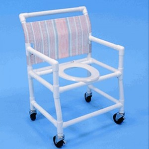 Extra Wide PVC Shower Chair Commode