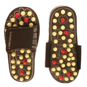 Black & Pearl Reflexology Sandals