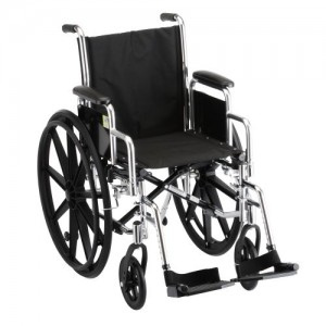 Nova Steel & Nylon Wheelchair with Detach Desk Arms & Footrests