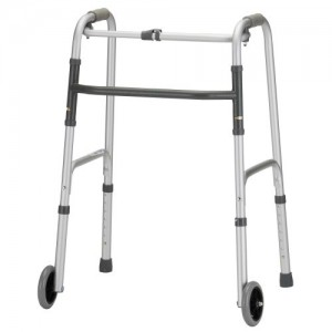 "Nova Folding Walker 5"" Wheels Single Button Release"