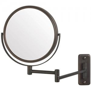 Jerdon 8-Inch Two-Sided (1x/5x) Swivel Wall Mount Mirror