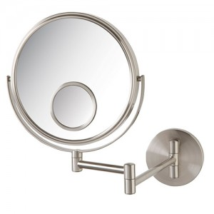 Jerdon 10X-8 in 2-Sided Wall Mount Mirror w/15X Spot Mirror
