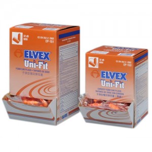 Elvex Uni-Fit Disposable Corded Foam Earplugs