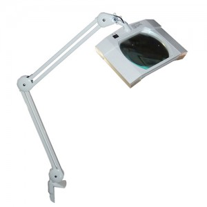 "MG Electronics LED Desktop Magnifier w/ 7"" x 5"" Lens"