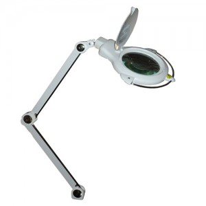 MG Electronics LED Desktop Magnifier Lamp w/ 2 Light Modes