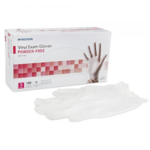McKesson Clear Vinyl Smooth Exam Gloves Powder Free - NonSterile