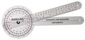 Fabrication Enterprises Baseline Transparent Plastic Goniometer